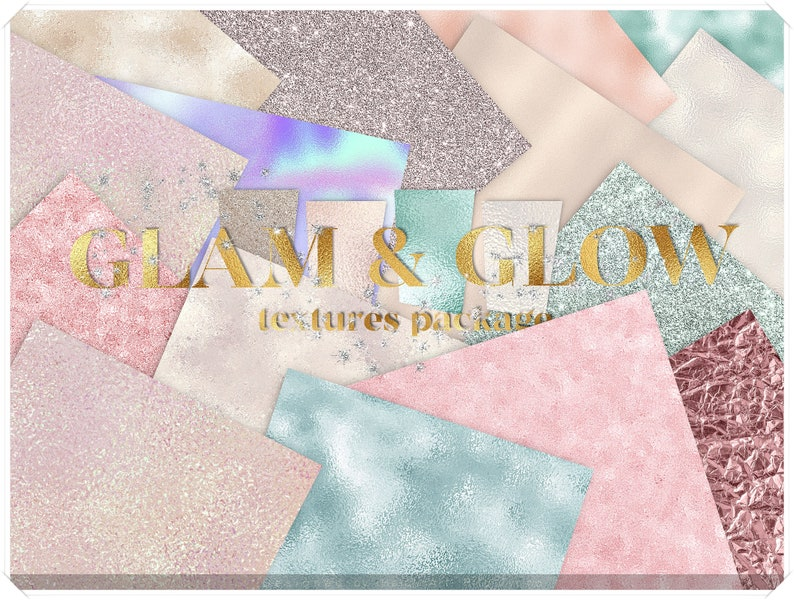 Glamour Textures Package  Rose Gold Foil Backgrounds Pack  image 0