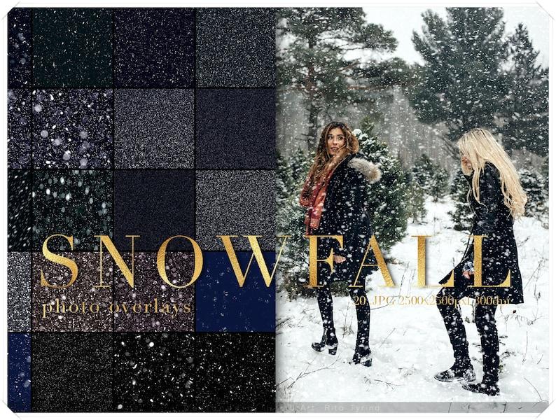 Real Snow Photo Overlay  Showfall Overlays Pack  Christmas image 0