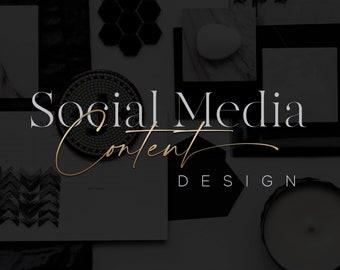 Custom Canva Posts Templates - Social Media Managment - Instagram Posts Pack - Social Media Planner - Instagram Pinterest Twitter Facebook