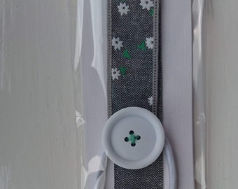 Ribbon Button Bookmark Handcrafted