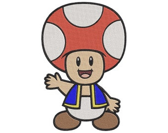 447083eb041 Super Mario Bros Toad Embroidery Design