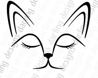 Fox face svg cut file for cricut or silhouette comes with svg jpg and png