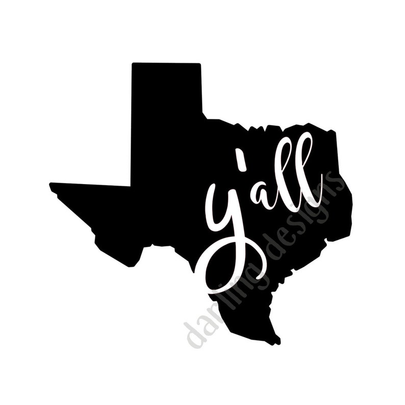 Y'all Texas svg file for silhouette cameo and cricut svg jpg and png files  digital download southern sayings southern svg