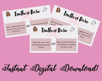TRUTH OR DARE - Bridal Shower/Hen Party Cards