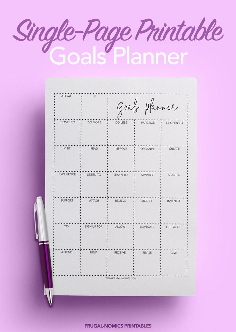 Goal Planner Printable Planner Instant Download Planner image 0
