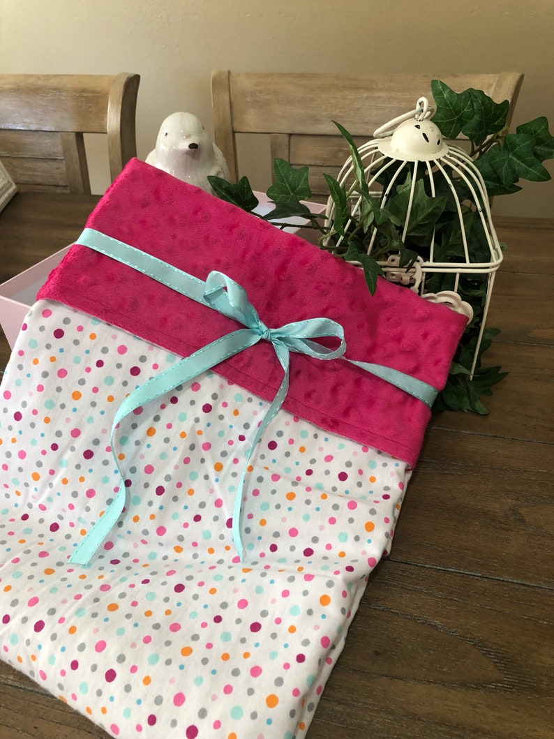 CLEARANCE Colorful Polka-Dots Baby Minky Blanket