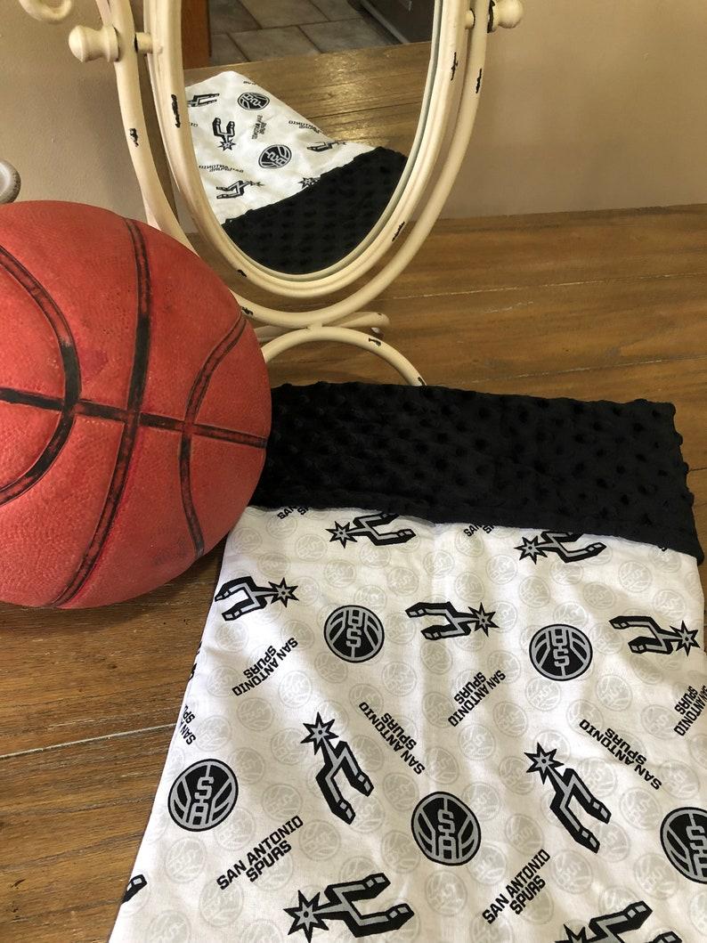 info for 35137 38caa San Antonio Spurs Baby Minky Blanket