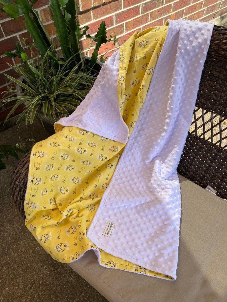 Tweety Bird Baby Minky Blanket