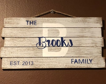 Custom Family Sign, Personalized Family Sig, Family Established Sign, Custom Name Sign, Last Name Sign