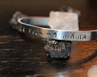 Hand Stamped Cuff Bracelet (Your Words)