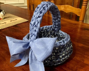Fabric/Rag Crocheted Basket