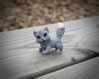 BJD Doll Cat. Ball-jointed Doll. BJD Animal. Articulated Doll Cat. BJD Doll.