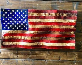 Wooden Wavy Flag Etsy