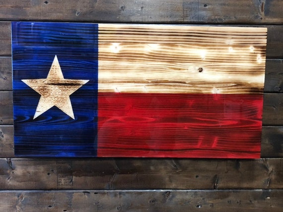 Texas Flag Rustic Flag Wood Flag Wooden Flag Rustic Decor Etsy