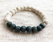 White Lava Rock Bracelet,...