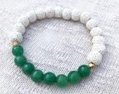Jade Bracelet, Stretchy B...