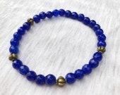 Blue Jade Bracelet, Stret...