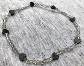 Heart Anklet, Stretchy An...