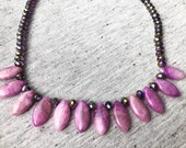 Purple Agate and Czech Gl...