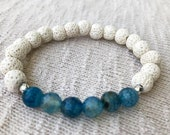 Blue Agate and White Lava...
