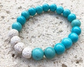 Turquoise and White Lava ...