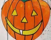Halloween Stained Glass - Pumpkin - Festive Decor - Fall - Pumpkin Spice