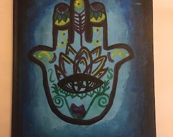 Hamsa Painted Notebook