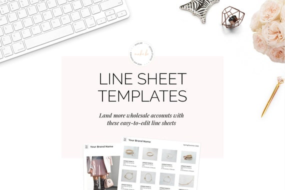 Wholesale Line Sheet And Catalog Jewelry Template