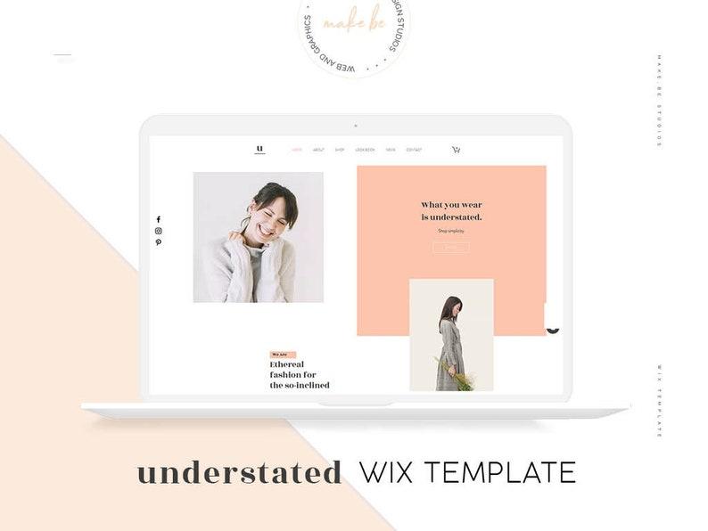 Understated   Wix Website Template   Minimal Online Store   Fashion