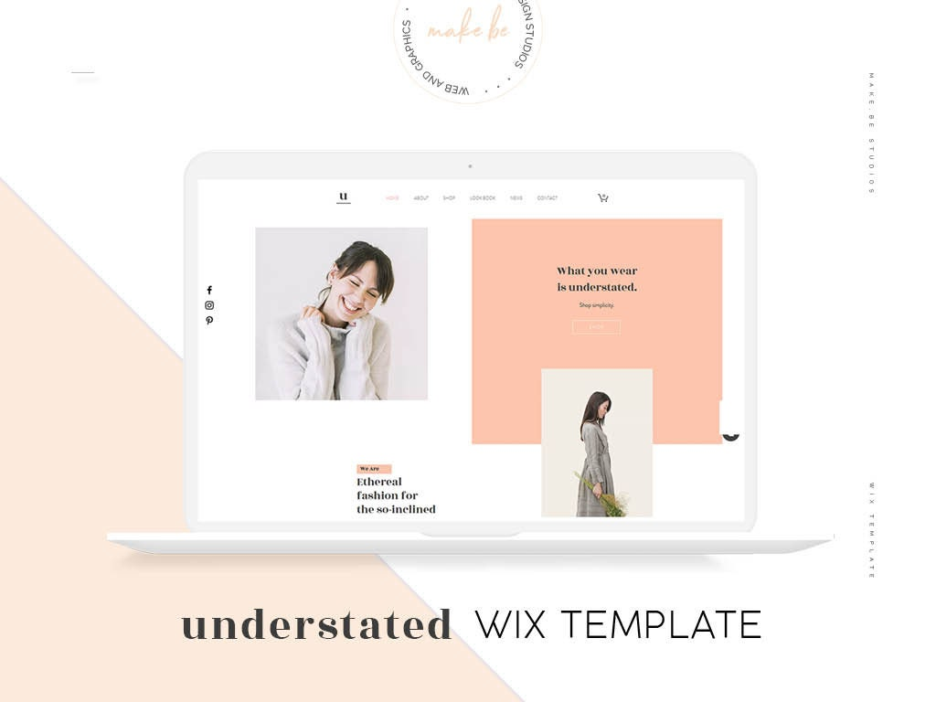 Understated Wix Website Template Minimal Online Store Etsy