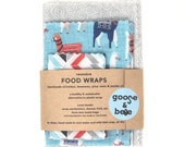 Reusable Beeswax Food Wraps | 3 pack |