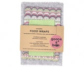 Beeswax Food Wraps | 3 pack | sustainable, reusable, zero waste alternative to plastic wrap |wonderful eco friendly gift