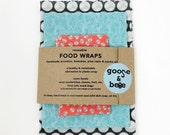 Beeswax Food Wraps | Perfect for a plastic-free Easter Basket | reusable eco friendly alternative to plastic | 3 pack