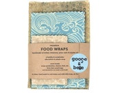 Beeswax Food Wraps | eco friendly gift | 3 pack | reusable, zero waste alternative to plastic wrap