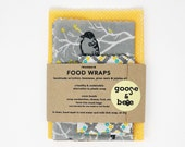 Reusable food wraps |  Beeswax Food Wraps | 3 pack | wonderful, earth friendly alternative to plastic wrap