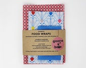 Beeswax Food Wraps | 3 pack | reusable eco friendly alternative to plastic wrap