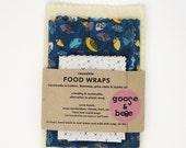 Food Wraps | 3 pack | eco friendly alternative to plastic wrap