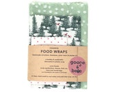 Eco friendly gift | 3 pack | reusable beeswax food wraps | alternative to plastic wrap