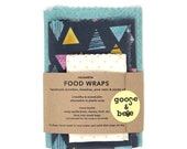 Reusable Beeswax Food Wraps | 3 pack | eco friendly alternative to plastic wrap