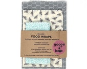 Eco Friendly gift | Beeswax Food Wraps | 3 pack | reusable, zero waste alternative to plastic wrap