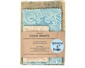 Beeswax Food Wraps | eco friendly gift | 3 pack | reusable, zero waste alternative to plastic wrap