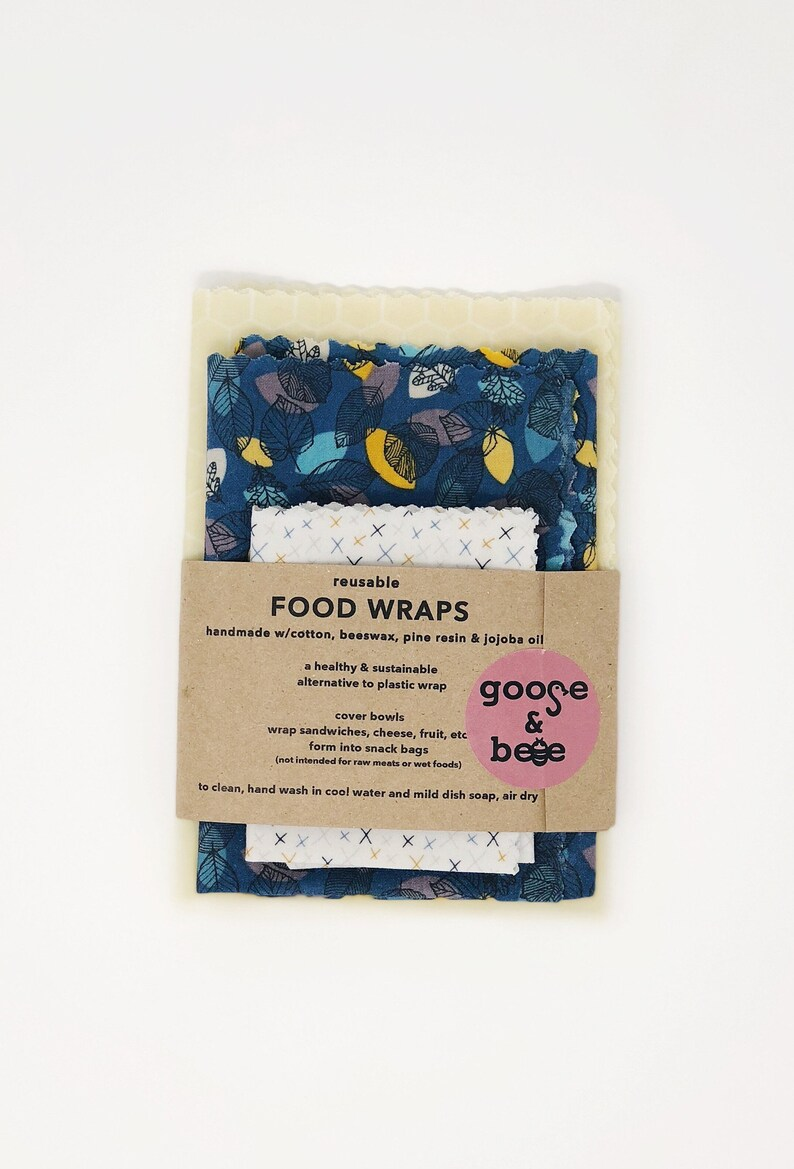 Food Wraps  3 pack  eco friendly alternative to plastic wrap image 0