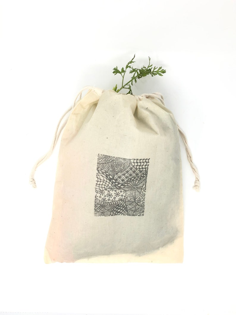 XL Reusable Food Bag alternative to plastic bags Bulk Foods /& Produce great for Bread