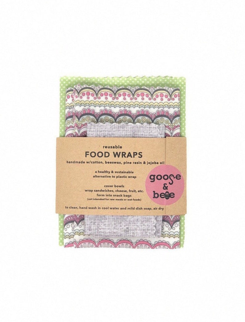 Beeswax Food Wraps  3 pack  sustainable reusable zero image 0