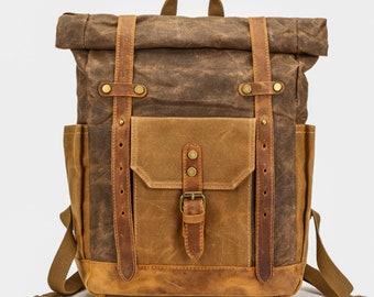 adb37fb12b66 Handmade Waxed Canvas Bag