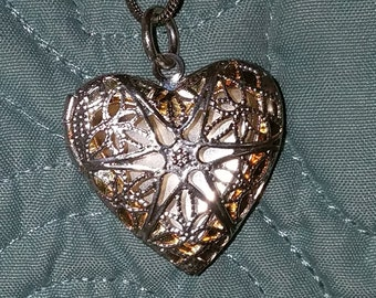 Shimmery Heart Locket
