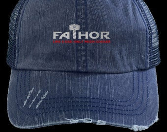 44e785d20d2d8 Fa Thor (Father) Dad Unstructured Distressed Cap ready for summer For a Thor  Fan Father or new Daddy.