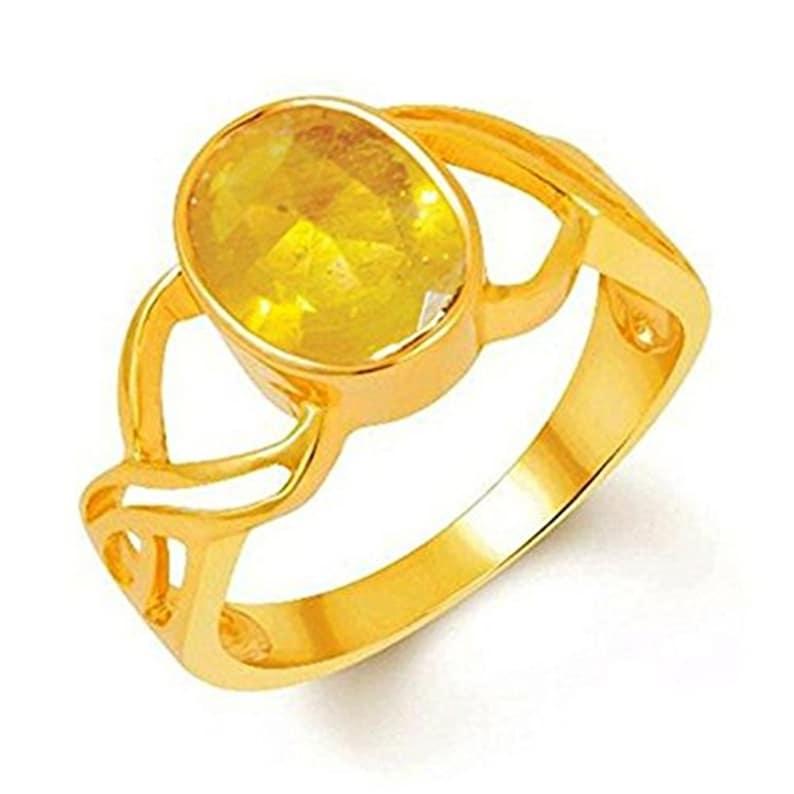 AKSHAY GEMS Yellow SapphirePukhraj Panchadhatu Men/&Women Pendant Nacklace
