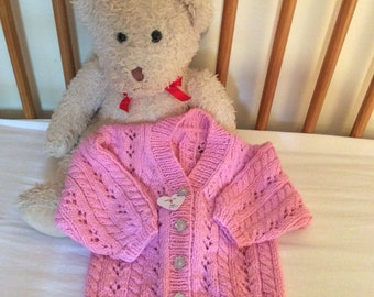 Baby cardigan hand knitted