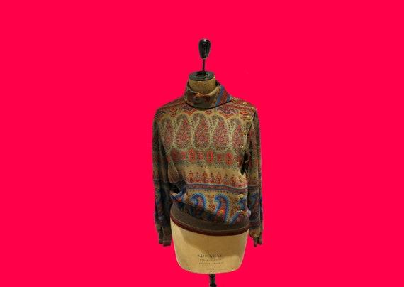 Vintage 80's Emanuel Ungaro Collar Blouse
